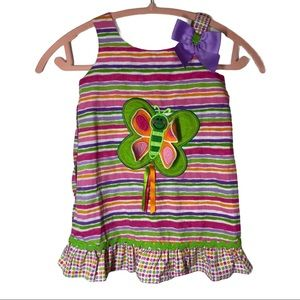 Youngland 3D Striped Butterfly Dress size 4